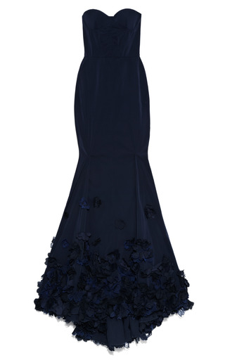 Medium nina ricci black embroidered radzimir stretch gown