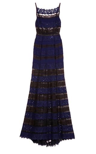 Medium nina ricci black chiffon and lace gown