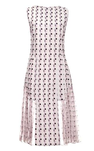 Medium thakoon pink printed crepe pleated dress