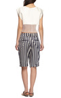 Long Striped Satin Shorts by THAKOON ADDITION Now Available on Moda Operandi
