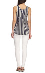 Striped Satin Tank by THAKOON ADDITION Now Available on Moda Operandi