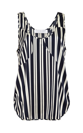 Medium thakoon addition blue striped satin tank
