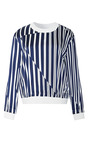 Satin Striped Pullover Top by THAKOON ADDITION Now Available on Moda Operandi