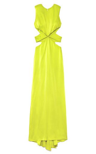 Medium cushnie et ochs green keylime hammered satin gown