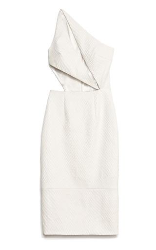 Medium cushnie et ochs ivory ivory fishnet stamped leather dress 2