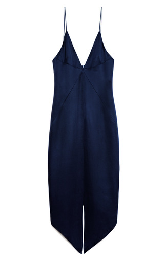 Medium cushnie et ochs navy navy silk blend twill dress