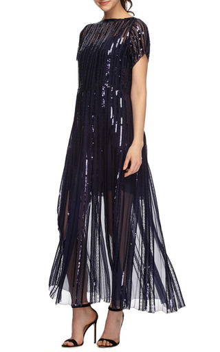 Sequined And Embroidered Pleated Midi Dress by MARC JACOBS Now Available on Moda Operandi