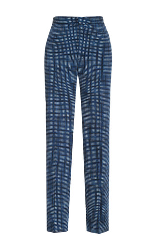 Medium marc jacobs blue printed wool pants