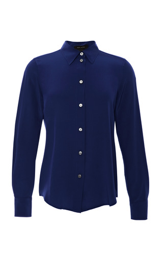 Medium marc jacobs blue silk crepe de chine blouse