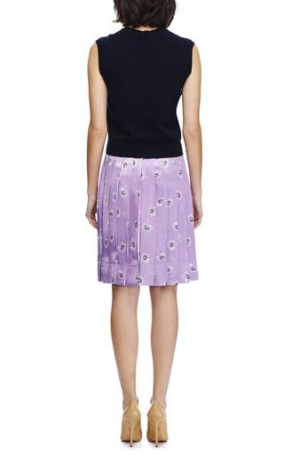 Satin Daisy Print Pleated Skirt by MARC JACOBS Now Available on Moda Operandi