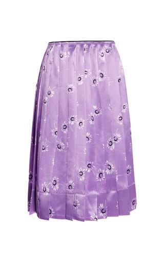 Medium marc jacobs purple satin daisy print pleated skirt