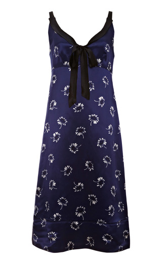Medium marc jacobs blue printed satin dress