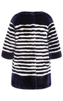 Striped Rabbit Fur Coat by MARC JACOBS Now Available on Moda Operandi