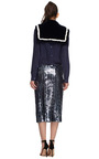 Striped Rabbit Fur Stole by MARC JACOBS Now Available on Moda Operandi