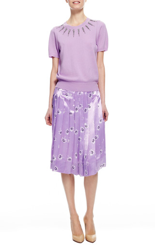 Wool Blend Crystal Embellished Sweater by MARC JACOBS Now Available on Moda Operandi