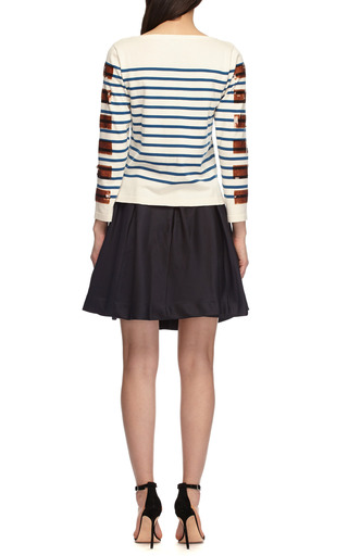 Sequined Cotton Blend Striped Sweater by MARC JACOBS Now Available on Moda Operandi