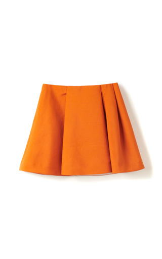 Medium 3 1 phillip lim orange canvas suiting irregularly pleated structured skirt