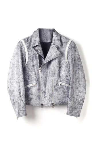 Medium 3 1 phillip lim black white cracked leather cropped motorcycle jacket