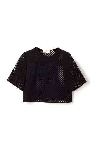 Medium 3 1 phillip lim black double crepe suiting cropped blouse 4
