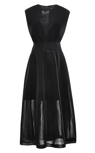 Medium theyskens theory black dazah wafer mesh dress