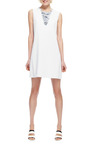 Daret Distressed Denim Shift Dress by THEYSKENS' THEORY Now Available on Moda Operandi