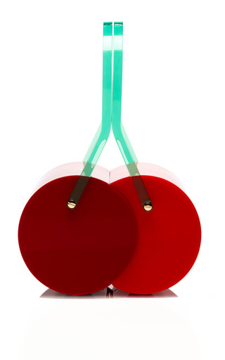 Cherry On Top Perspex Clutch by CHARLOTTE OLYMPIA Now Available on Moda Operandi