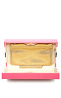 Pandora Striped Perspex Clutch by CHARLOTTE OLYMPIA Now Available on Moda Operandi