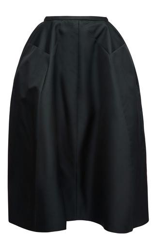 Medium rochas green silk gazar full skirt