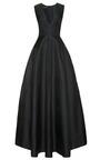 Silk Gazar V Neck Gown by ROCHAS Now Available on Moda Operandi