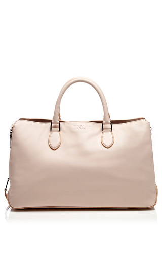Medium rochas pink leather tote bag