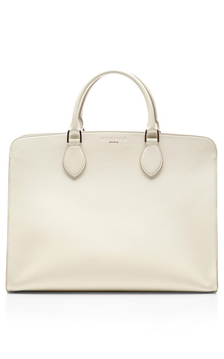 Medium rochas white nina leather tote