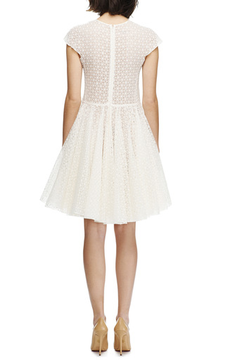 Broderie Anglaise Silk A Line Dress by GIAMBATTISTA VALLI Now Available on Moda Operandi