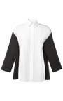 Color Blocked Cotton Blouse by GIAMBATTISTA VALLI Now Available on Moda Operandi