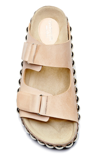 Grommet Embellished Leather Sandals by GIAMBATTISTA VALLI Now Available on Moda Operandi