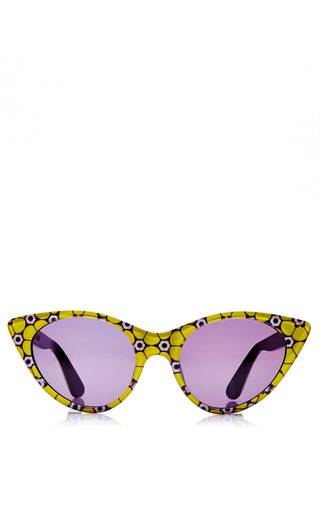Medium opening ceremony yellow cat eye acetate sunglasses