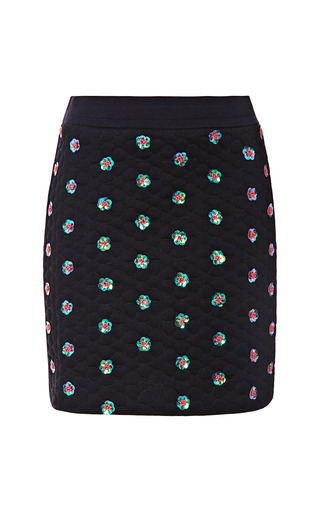 Medium opening ceremony black sparrow quilted embellished mini skirt