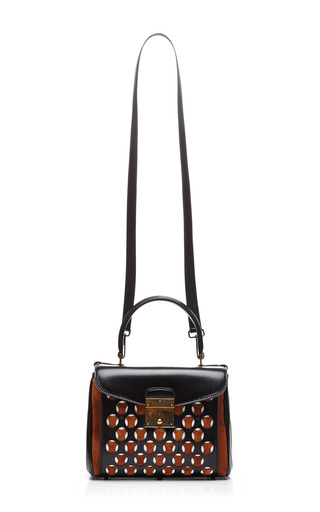 Mini Metropolitan Leather And Suede Perforated Bag by MARC JACOBS Now Available on Moda Operandi