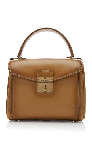 Medium marc jacobs brown mini metropolitan leather bag