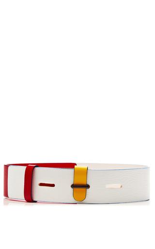 Medium prabal gurung multi tricolor leather belt