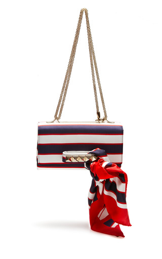 Medium valentino red super stripes flap bag