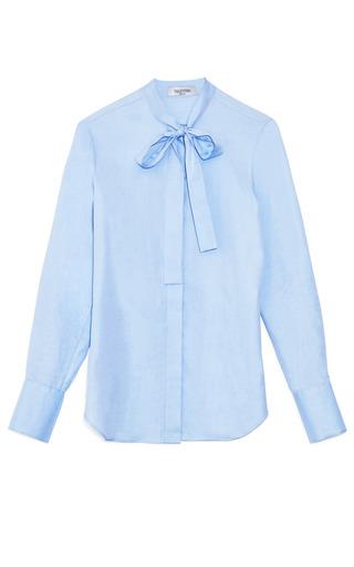 Medium valentino blue light blue white cotton blouse