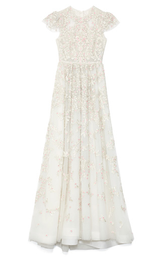Medium valentino multi embellished chiffon gown