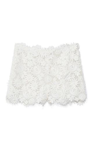 Medium valentino white bianco flower mix guipure short