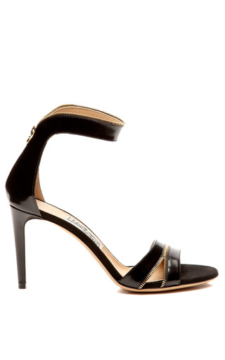 Ronette Leather And Zipper Detail Sandals by SALVATORE FERRAGAMO Now Available on Moda Operandi