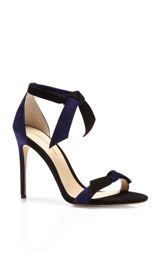 Ladylike Two Tone Suede Sandals by ALEXANDRE BIRMAN Now Available on Moda Operandi