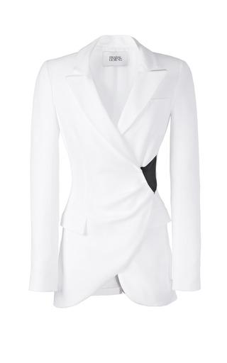 Medium prabal gurung black tuxedo wrap jacket