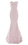 Floral Appliquéd Taffetta Gown by NINA RICCI Now Available on Moda Operandi