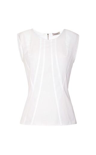 Seam Detail Cotton Top by NINA RICCI Now Available on Moda Operandi