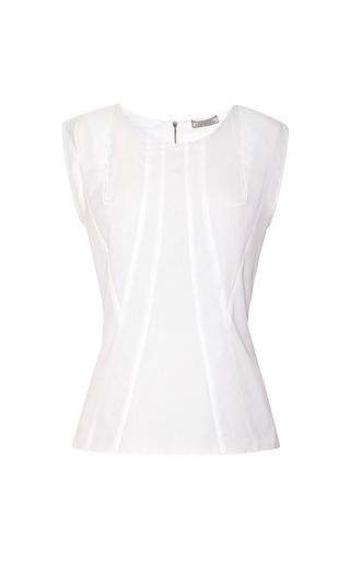 Medium nina ricci white seam detail cotton top