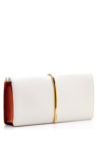 Foldover Leather And Suede Clutch by NINA RICCI Now Available on Moda Operandi